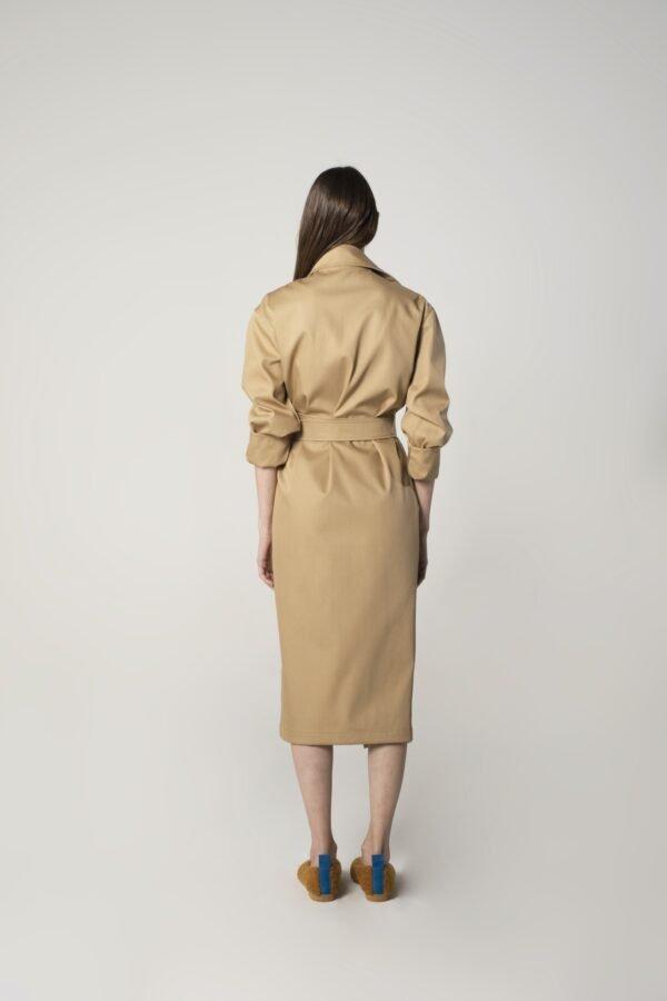 marija tarlac belted trench coat in camel 1