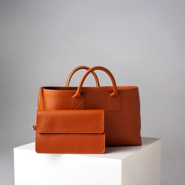 marija tarlac big shopping bag camel 2