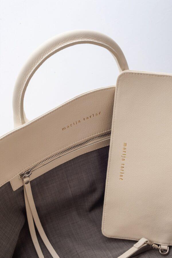 marija tarlac big shopping bag off white 2