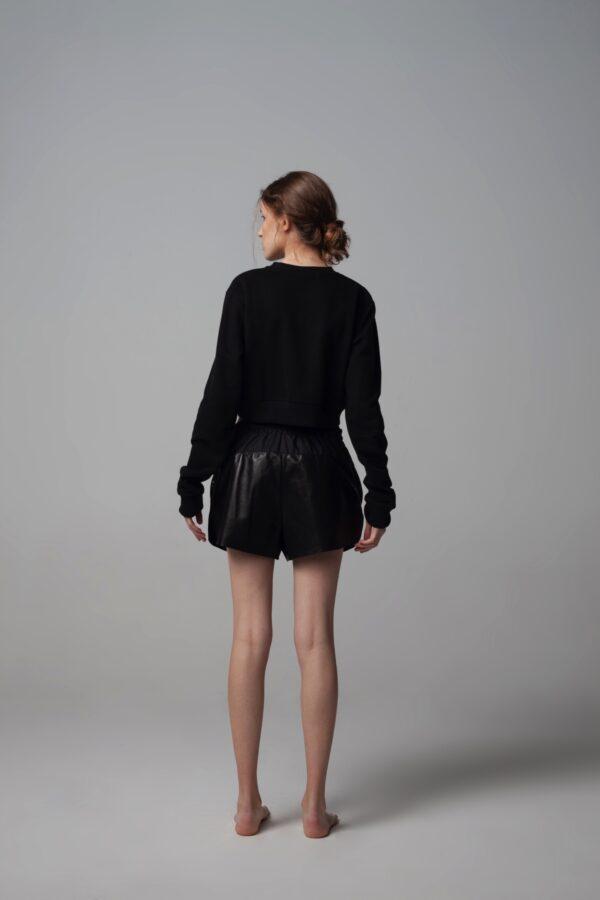 marija tarlac black leather shorts 1