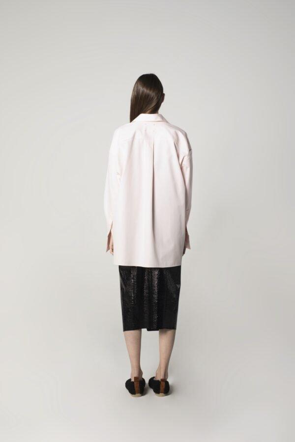 marija tarlac classic oversized shirt in baby rose 1