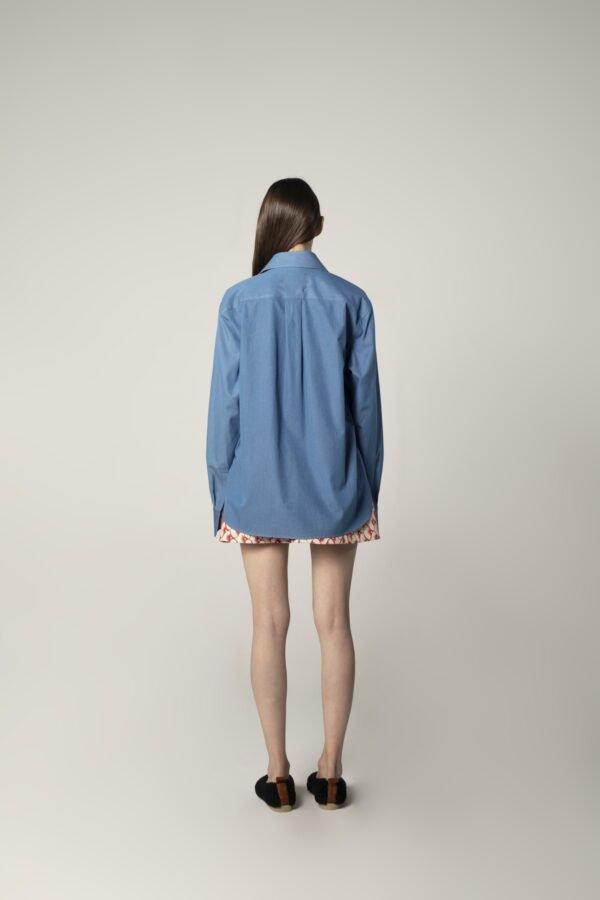 marija tarlac classic oversized shirt in blue 1