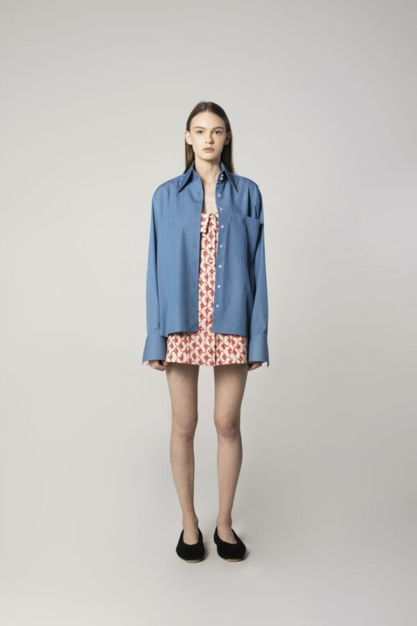 Classic Oversized Shirt in Blue