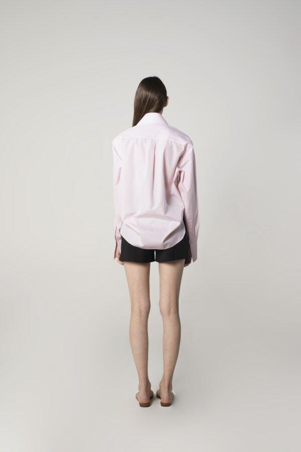 marija tarlac classic oversized shirt in pink 1