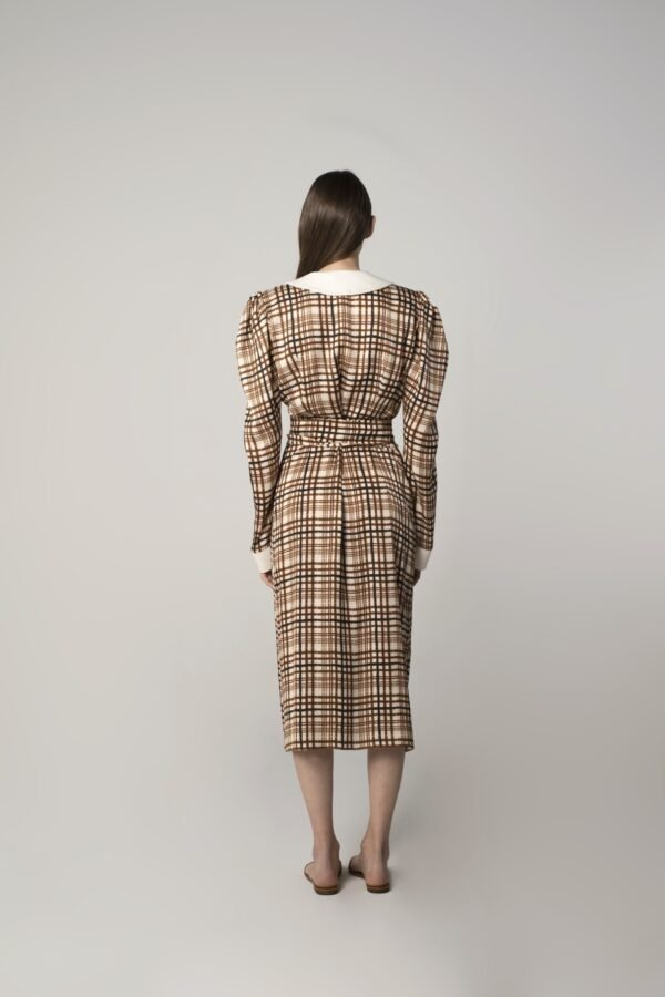 marija tarlac fold over dress in check print 1