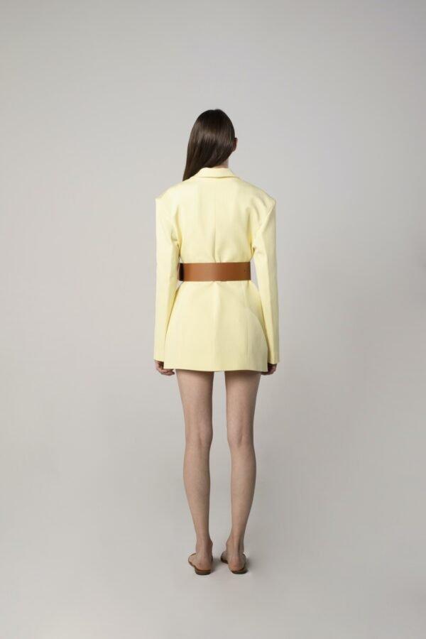 marija tarlac jacket dress in lemon yellow 1