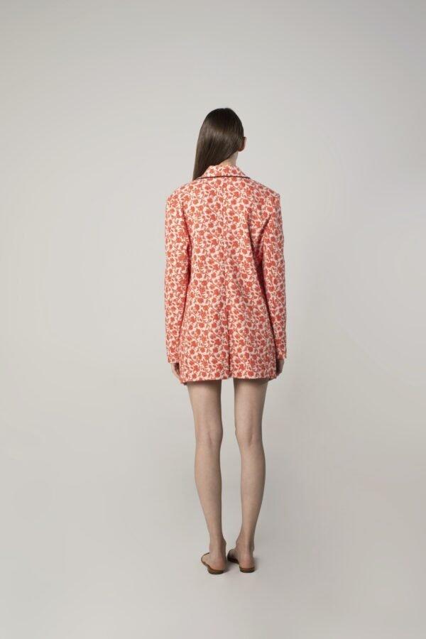 marija tarlac long scarf collar floral print jacket 1