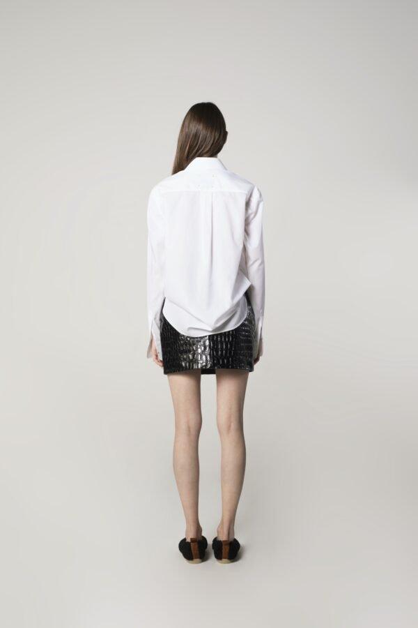 marija tarlac mini leather skirt in black 1