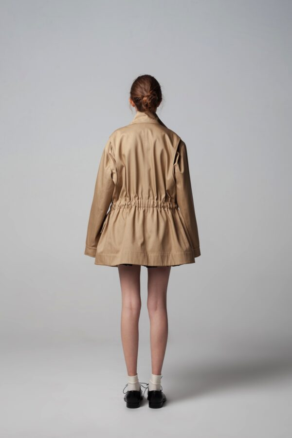 marija tarlac overisezed style beige jacket 1