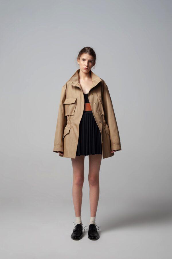 Overisezed Style Beige Jacket