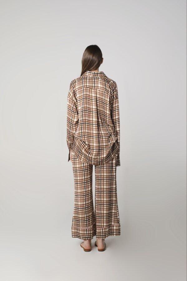 marija tarlac oversized shirt in check print 1