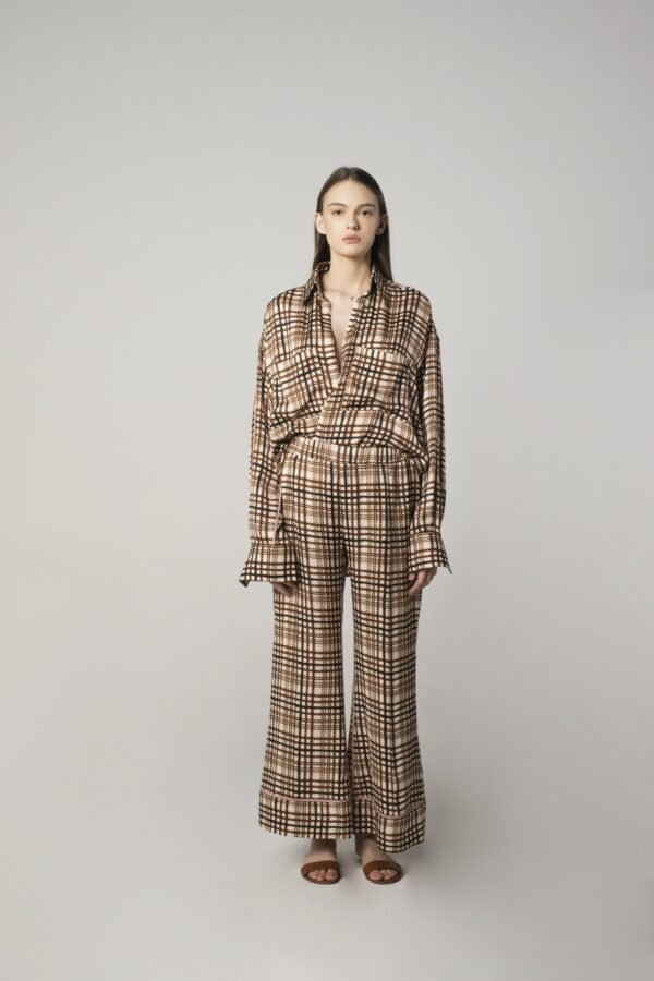 Oversized Shirt in Check Print