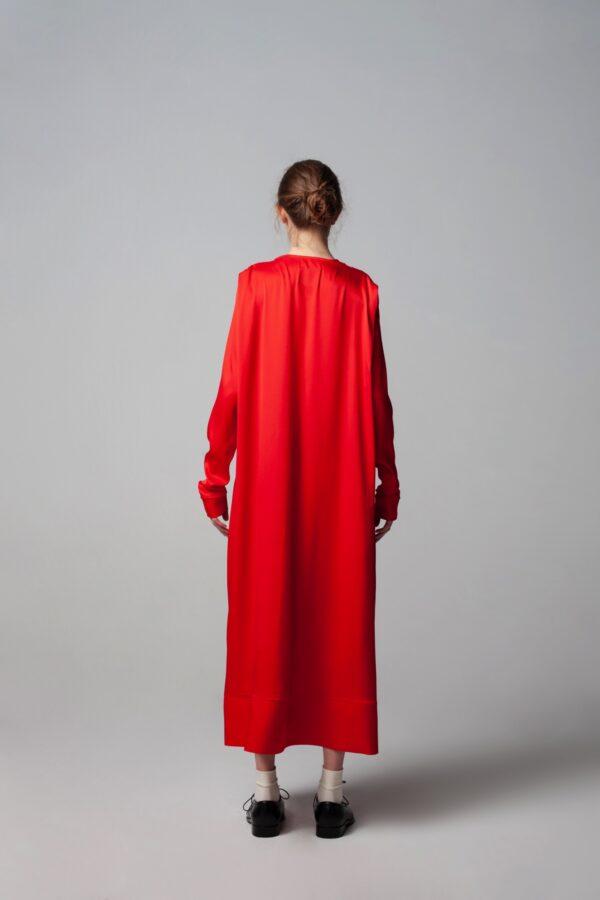 marija tarlac red deep v neck dress 3