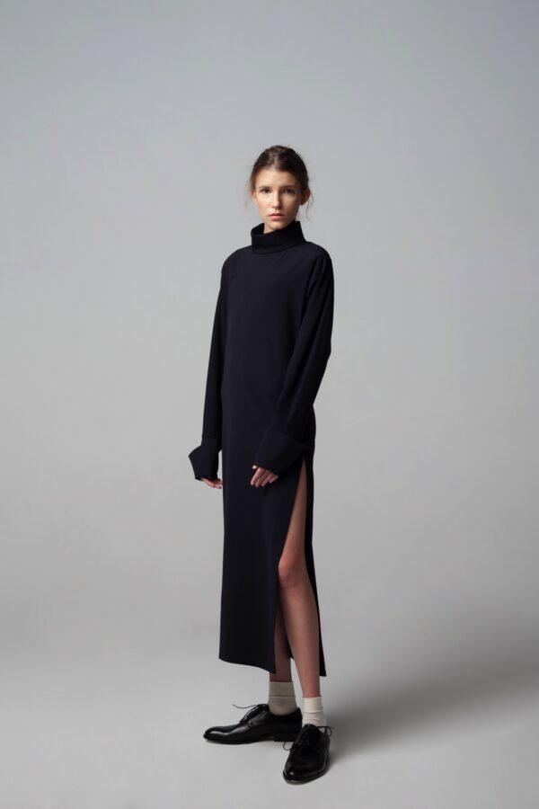 marija tarlac roll neck open back dress 1