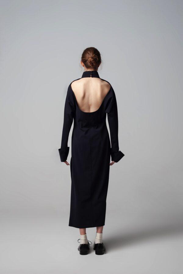 marija tarlac roll neck open back dress 2