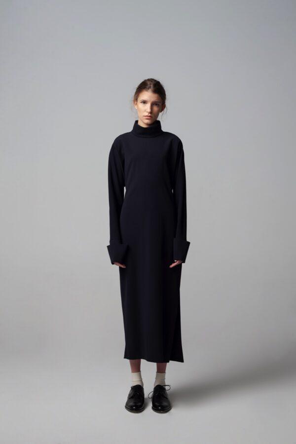 Roll-neck Open Back Dress
