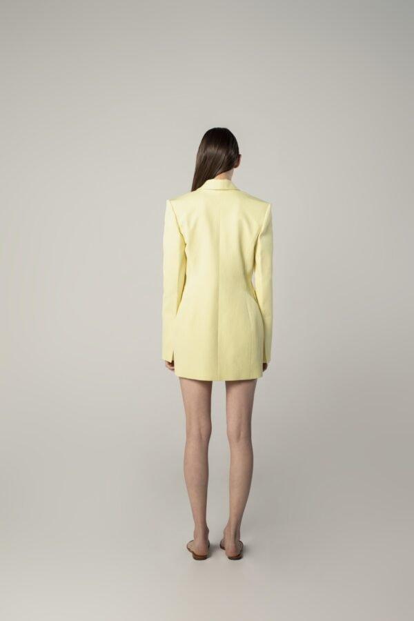 marija tarlac scarf collar jacket in lemon yellow 1