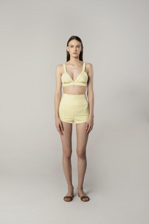 Shorts in Lemon Yellow