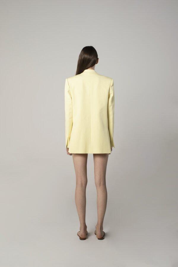 marija tarlac single breasted tux jacket in lemon yellow 1