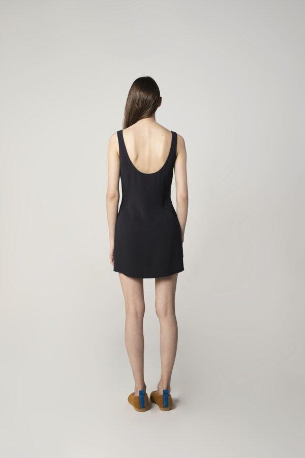 marija tarlac sleevless mini dress in navy blue 1