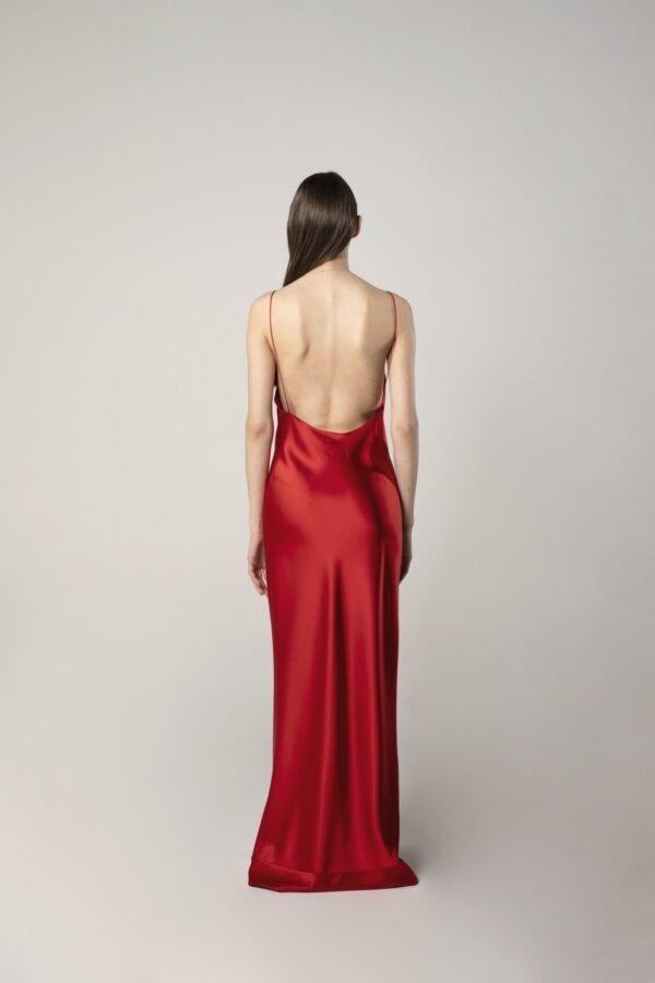 marija tarlac strappy bright red dress 1