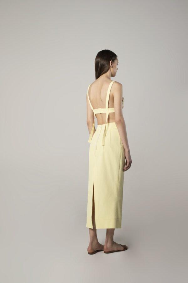 marija tarlac viscose skirt in lemon yellow 1