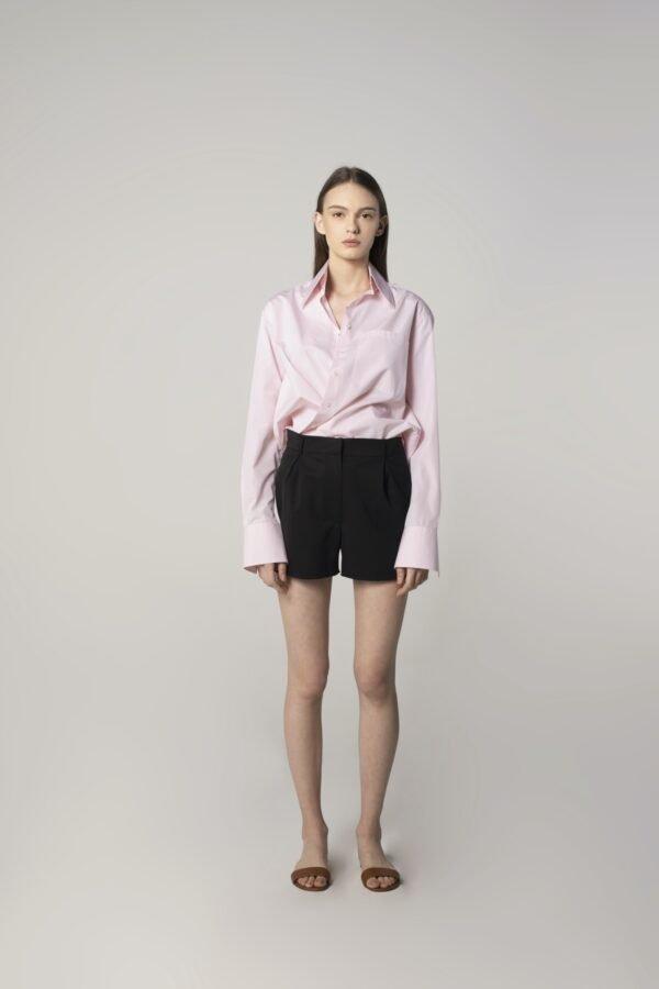 Wool Shorts in Black