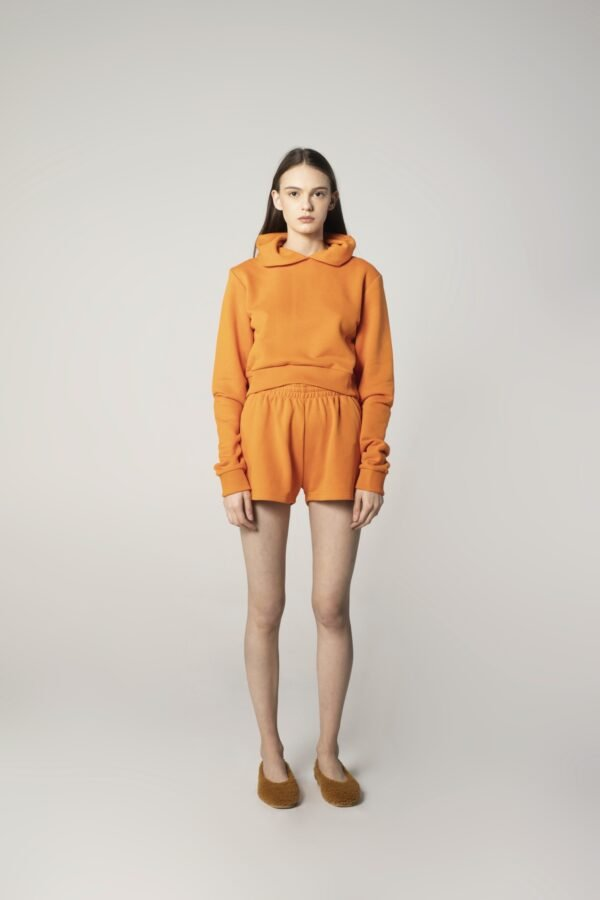 Soft Cotton Shorts in Orange