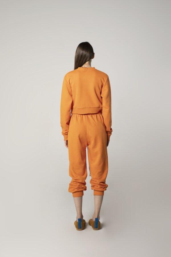 marija tarlac sweatpants in orange 1