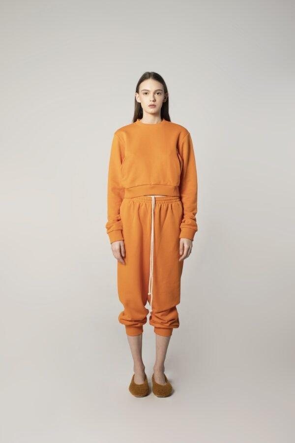 Long-sleeve Sweatshirt in Orange