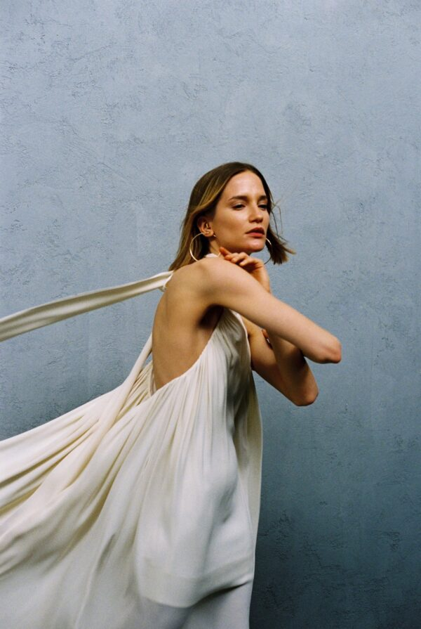 mt high neck dress in milky white1