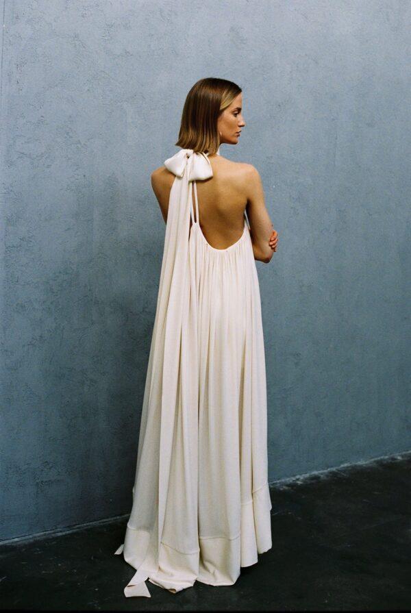 mt high neck dress in milky white2